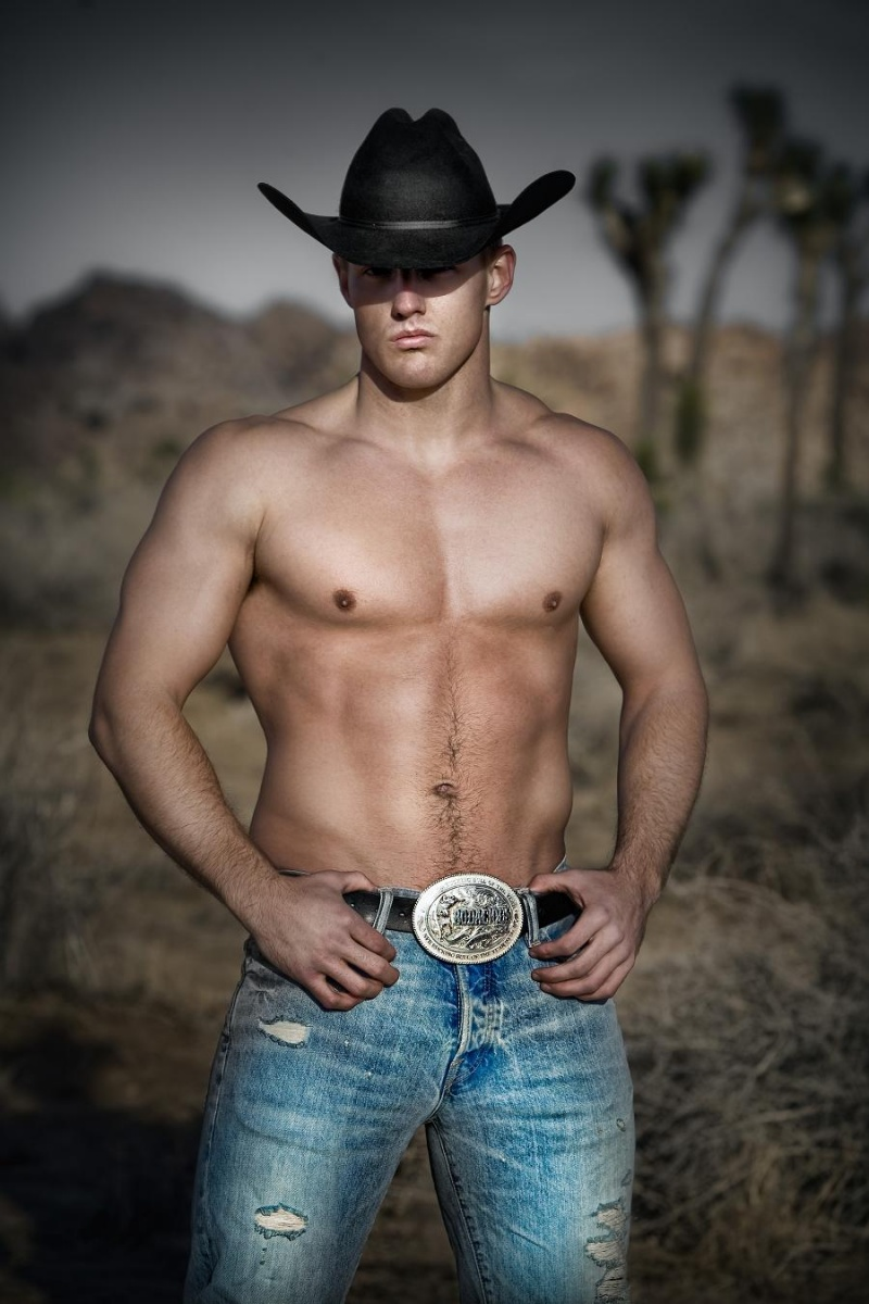 shirtless cowboys