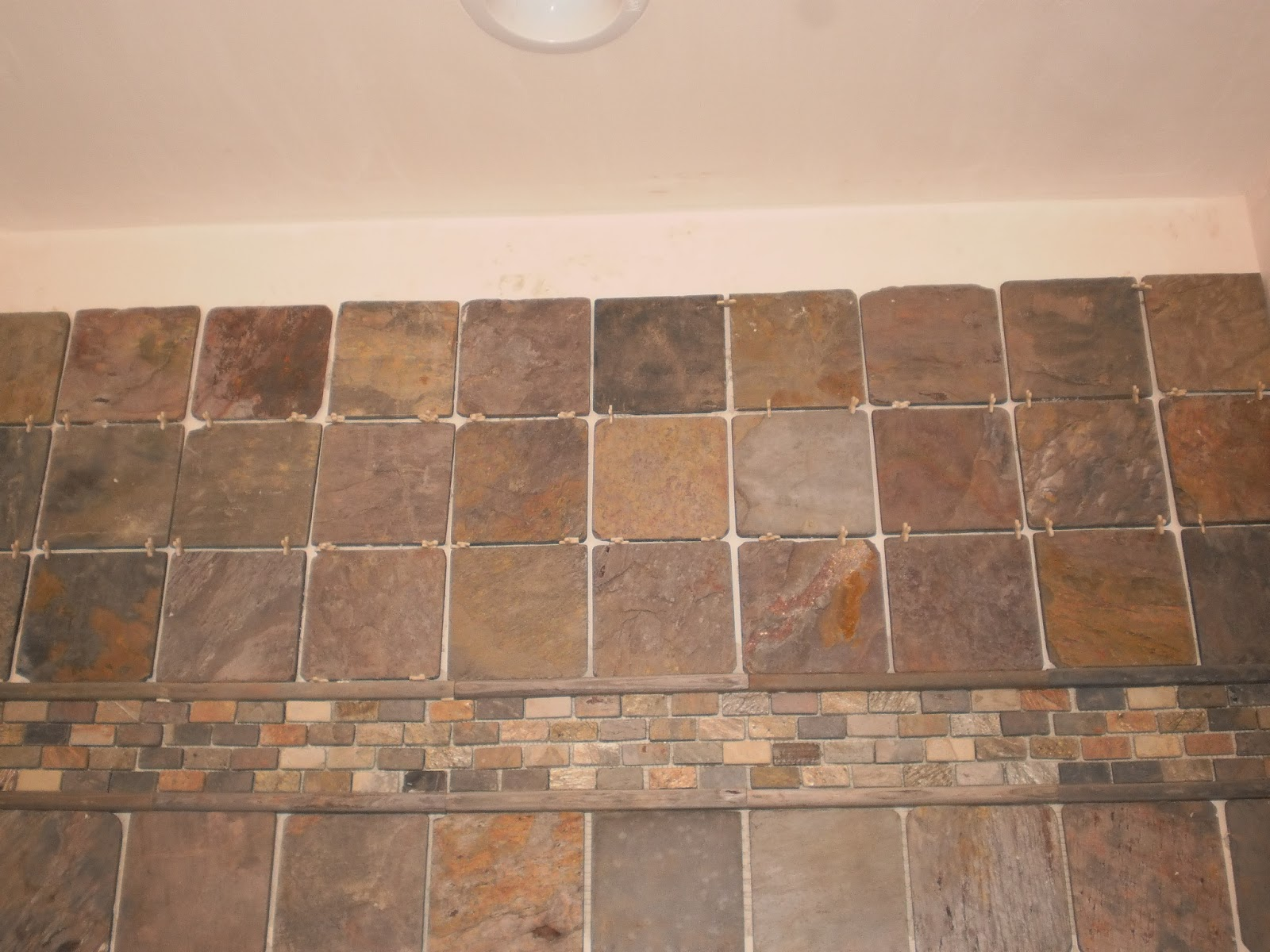 Installing natural slate tile heres how to do it ask tile ungrouted wall slate dailygadgetfo Gallery