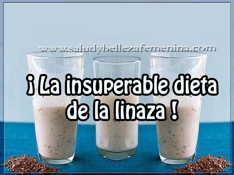 Bebidas para adelgazar , ¡ la insuperable dieta  de la linaza !