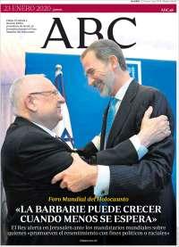 23/01/2020 PRIMERA PÁGINA DE ABC DE ESPAÑA