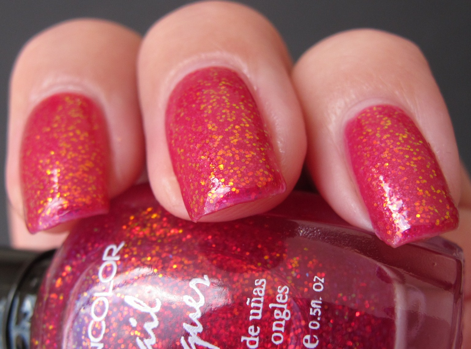 Zoya Aria & Kleancolor Chunky Holo Fuchsia - Polish This!