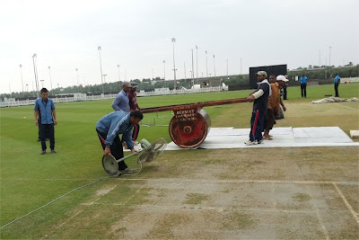 Drying a cricket pitch in Abu Dhabi (fan?)