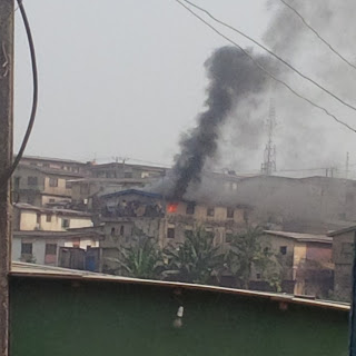 A house located at Mafo street,along College road is currently burning at 3:00pm (local time) [b]Waploaded.com[/b] correspondent who was at the scene of the incident confirmed that the fire started at the last apartment of the 2 storey building and the Lagos state fire service arrived at about an hour since the fire started and a baby was recused in one of the three apartments this afternoon.   [img]http://4.bp.blogspot.com/-iJqxABvSqk0/VmWYh5Lk1AI/AAAAAAAACKI/KcaOmUHTT0Q/s320/IMG_20151207_145341.jpg[/img]  [img]http://3.bp.blogspot.com/-yr2KjVzrW-E/VmWZFipCtTI/AAAAAAAACKY/AFQomcPWVBo/s320/IMG_20151207_145401.jpg[/img]  [img]http://3.bp.blogspot.com/-eTRgXJH3MTA/VmWY0xAwAlI/AAAAAAAACKQ/tlQUT4QnULw/s320/IMG_20151207_145506.jpg[/