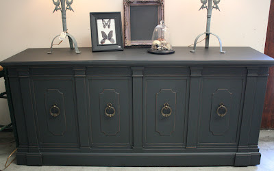 Antique White Chalk Paint Dark Furniture Shows Through