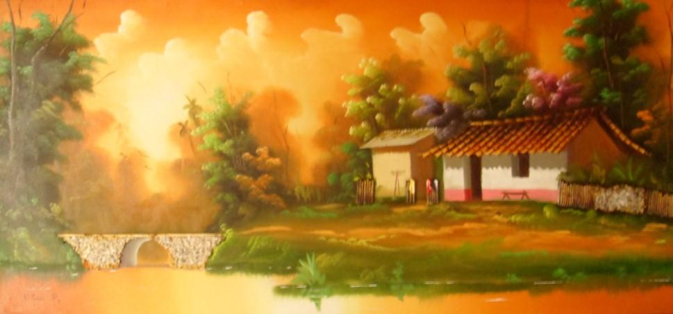 Im genes arte pinturas pinturas paisajes comerciales al leo - Cuadros de atardeceres ...