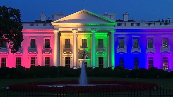 White House rainbow illuminated for marriage equality