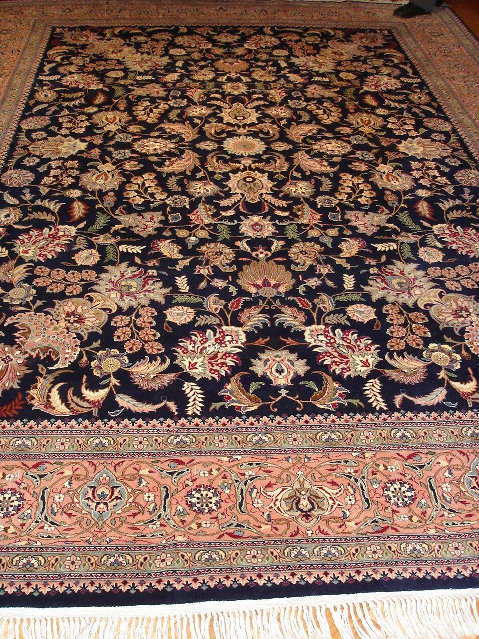 Aubusson alfombras y tapices antes y despues restauracion de alfombra - Restauracion de alfombras ...