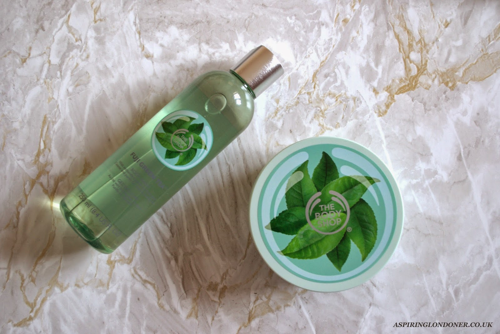 The Body Shop Fuji Green Tea Body Butter & Shower Gel Review - Aspiring Londoner