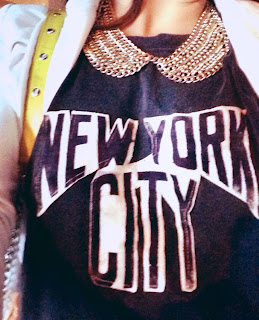Understar tee, Understar, NYC tshirt, NYC tee, New York City tee, gold collar necklace, NYC style, New York City clothing and accessories, cropped tees