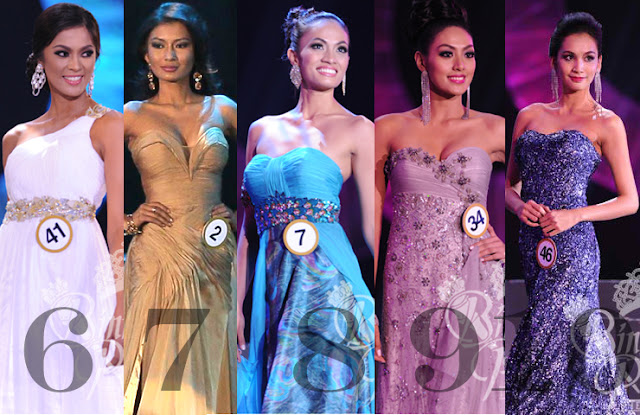 Bb. Pilipinas 2013 Top 10 Evening Gowns