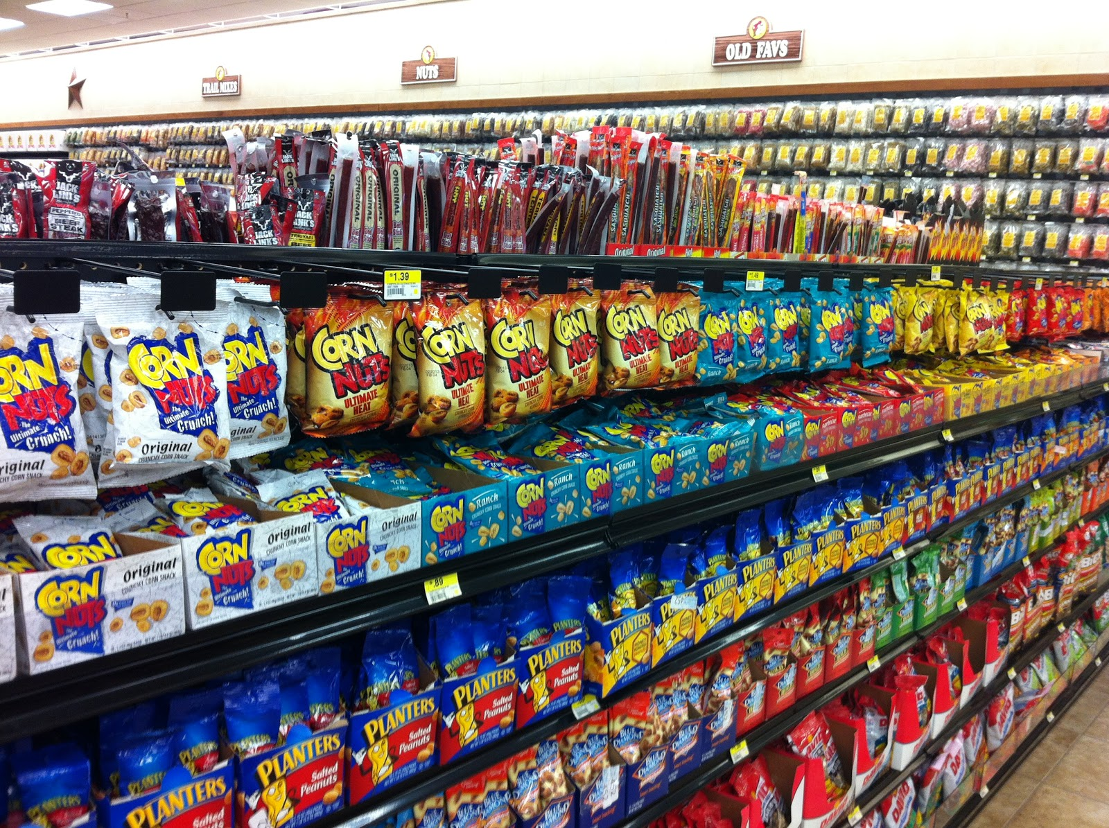 An entire row dedicated to Corn Nuts. Jeannie s Obsessions  October 2012