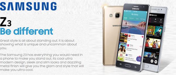 Samsung Z3, Smartphone Tizen Quad Core 5 inci Harga Rp1.7 Jutaan