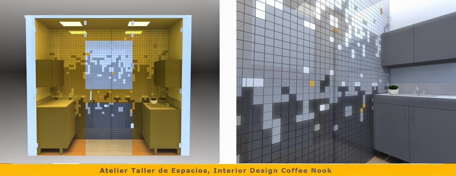 Coffee Nook, Interior design, diseño de Interiores guatemala, Atelier Taller de Espcacios