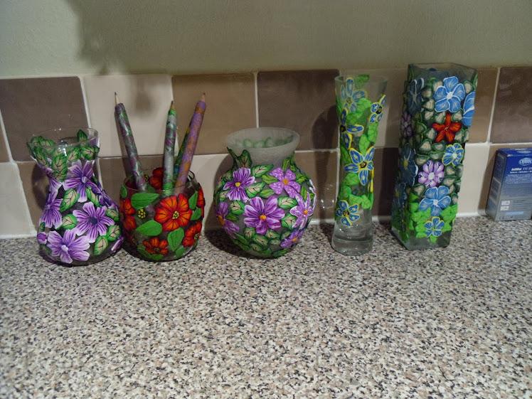 Fimo flower art