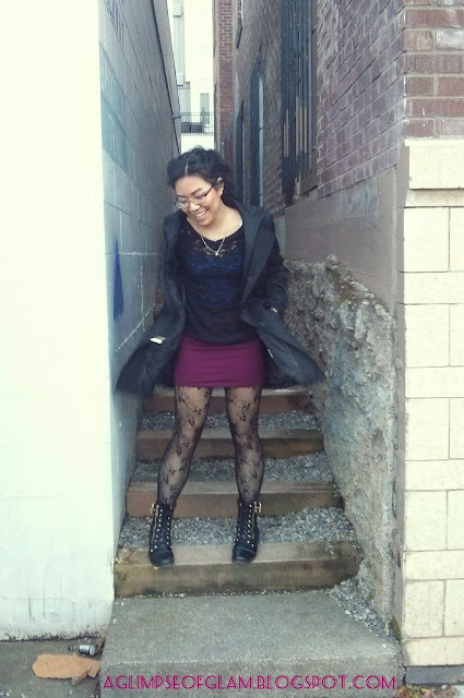 OOTD how I style black lace