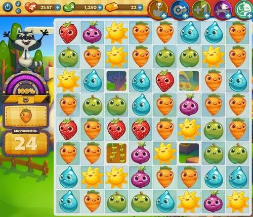 Nivel 120 Farm Heroes Saga