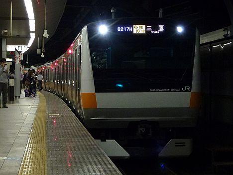 中央線各駅停車 三鷹行き E233系(中央線武蔵小金井駅工事に伴う運行)