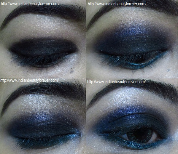 Sultry Blue Smokey Eye Makeup Tutorial