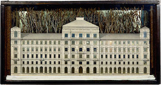 Picture of a white palace in a box by Joseph Cornell