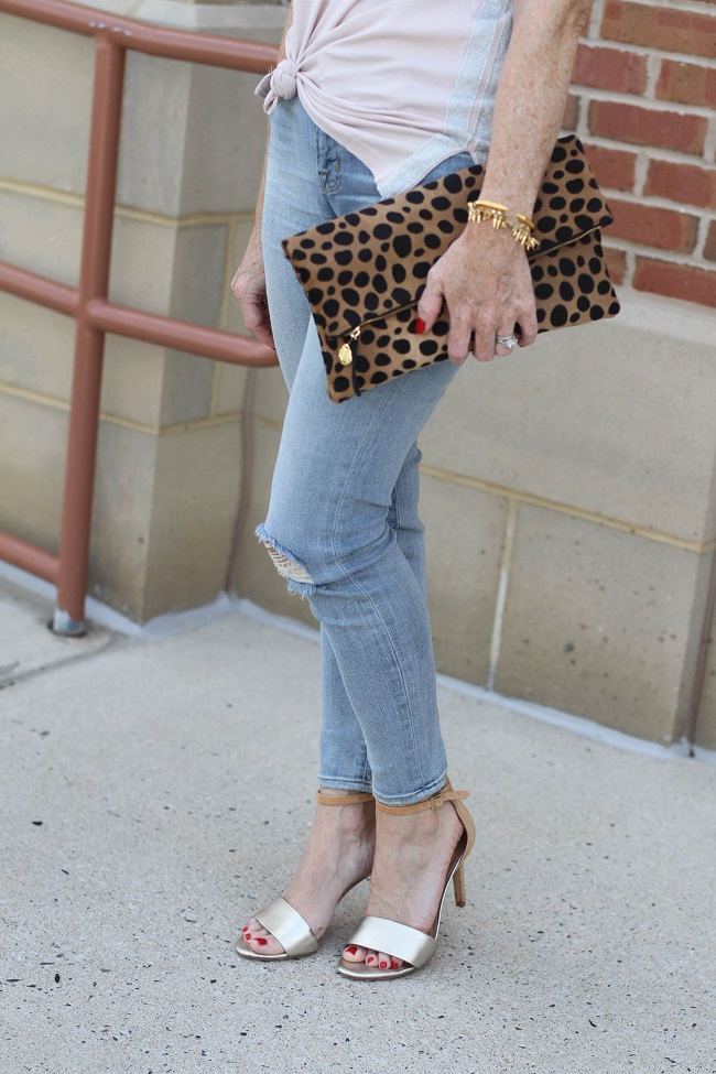 jbrand cropped jeans, clare v clutch