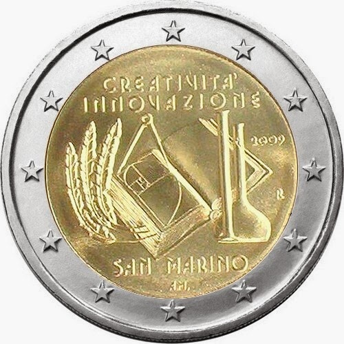 2 Euro Commemorative Coins San Marino 2009, European Year of Creativity and Innovation