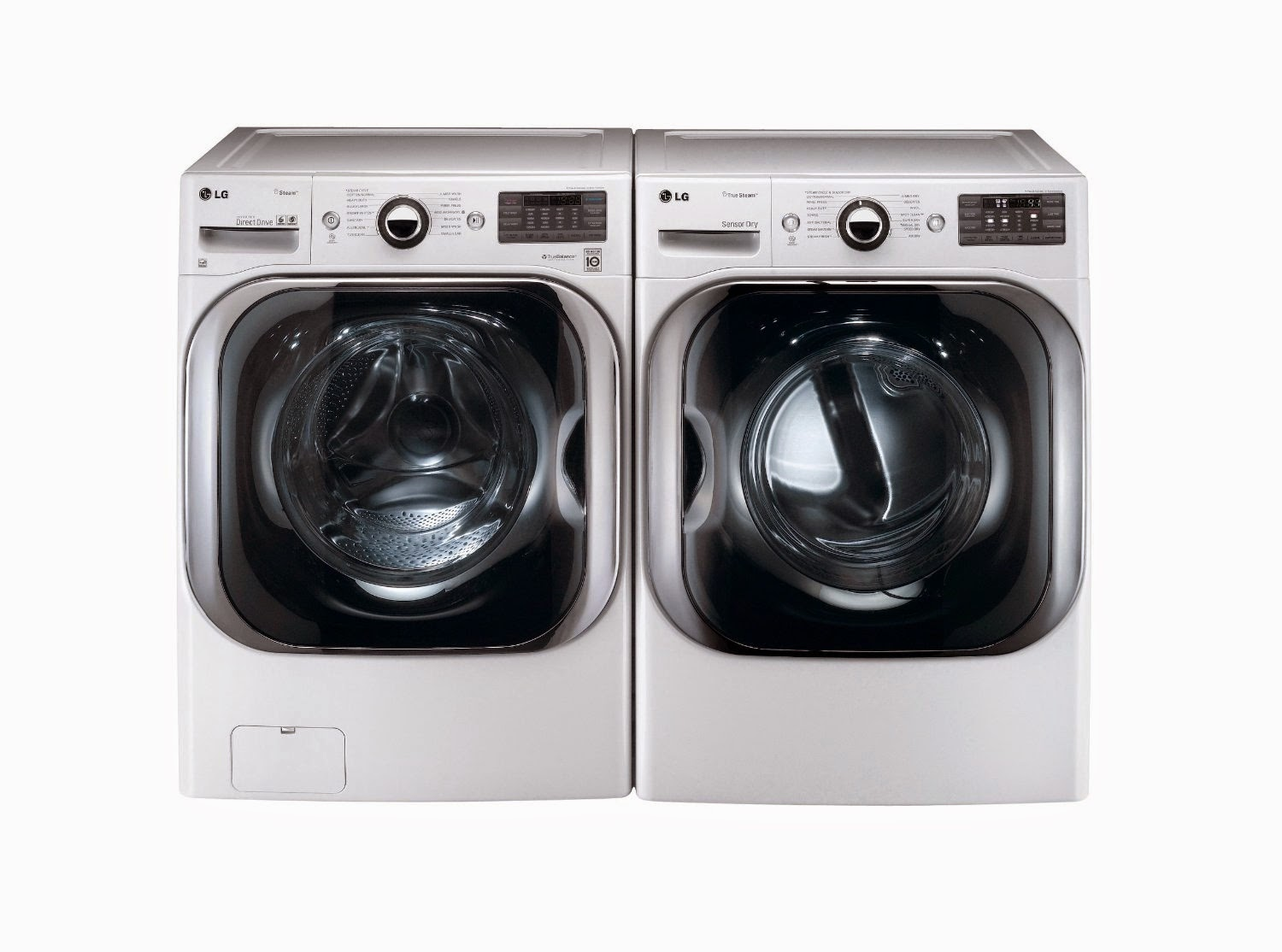 lg titan laundry pair washer and gas dryer sets