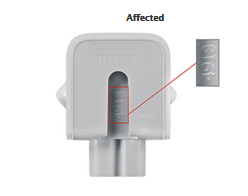 Defective Apple Wall Plus Adapter