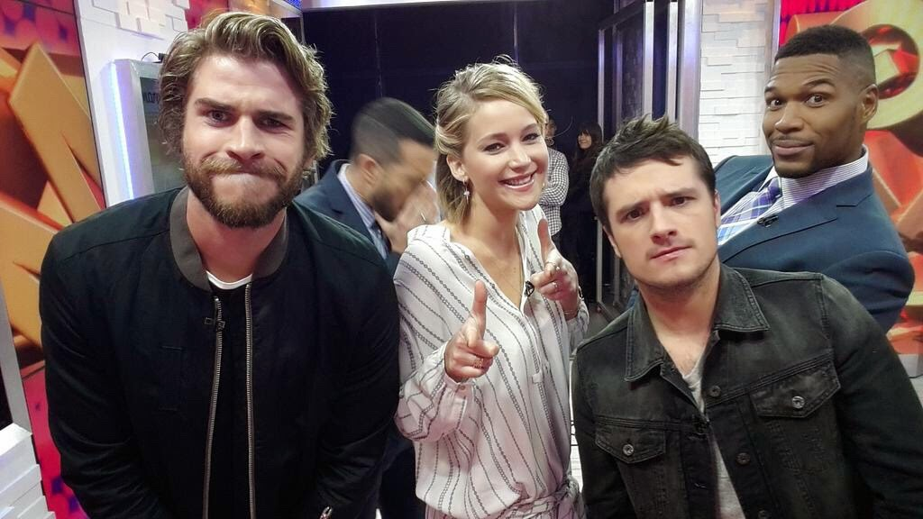 jennifer lawrence josh hutcherson liam hemsworth good morning america mockingjay part one hunger games