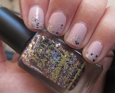 Gade 800 - Pale Shell Glitter Gradient Barry M Rose Quartz