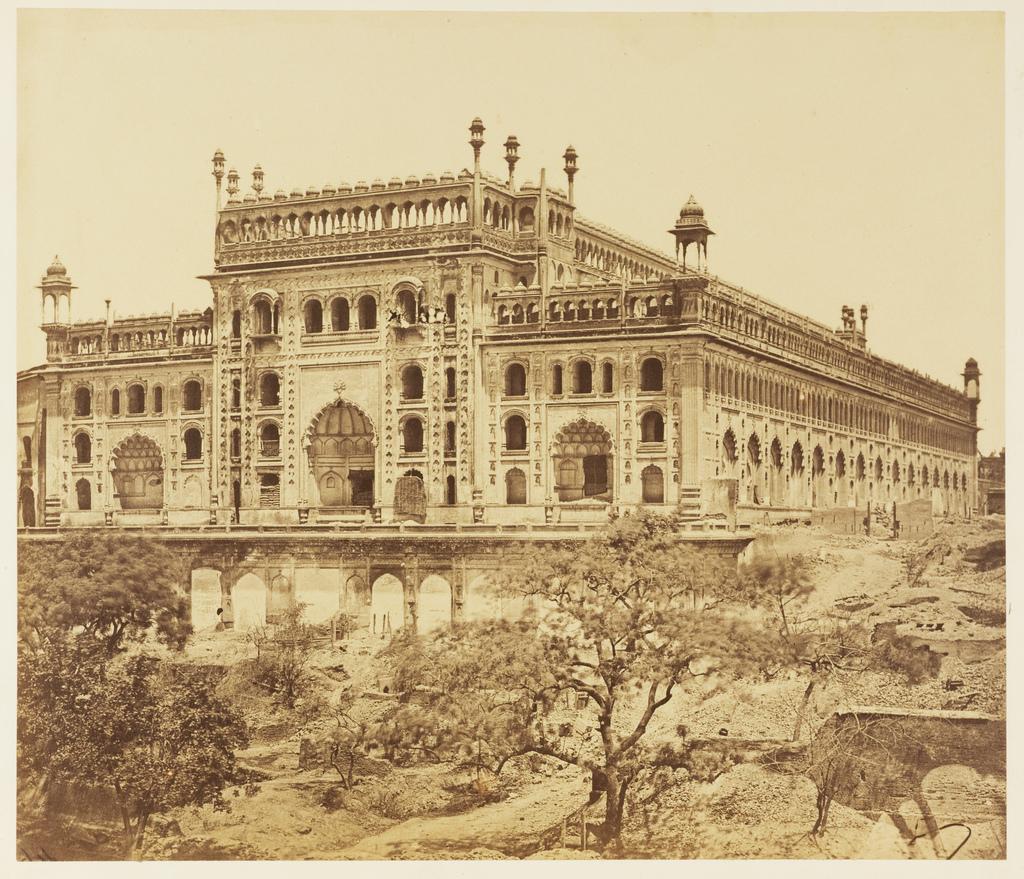 Southwest View Of The Bara Imambara Albumen Print Lucknow Uttar Pradesh 1858 Old Indian Photos