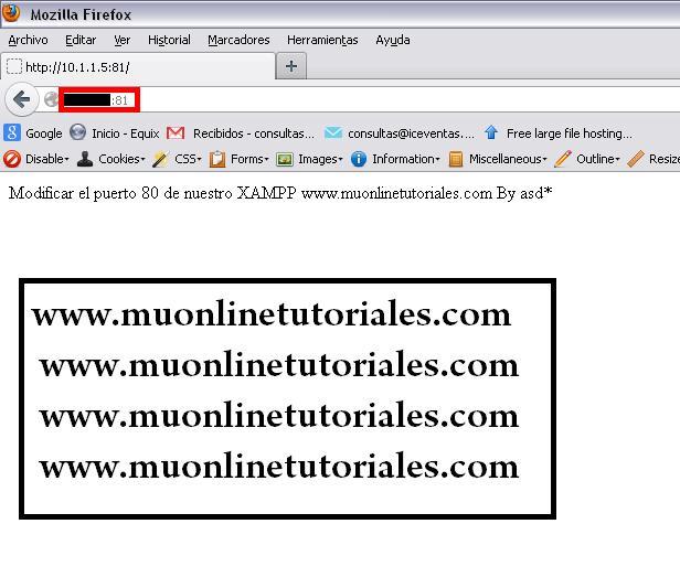 Verificando los cambios en el navegador