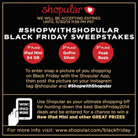 Black Friday Shopular Sweeps