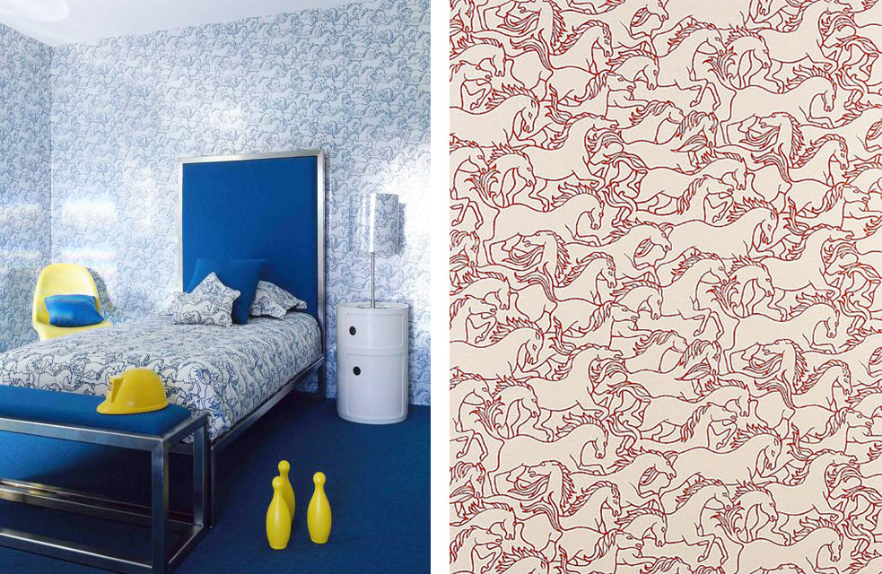 Esdesign wallpaper wednesday horsing around - British interior design style pragmatism comes first ...