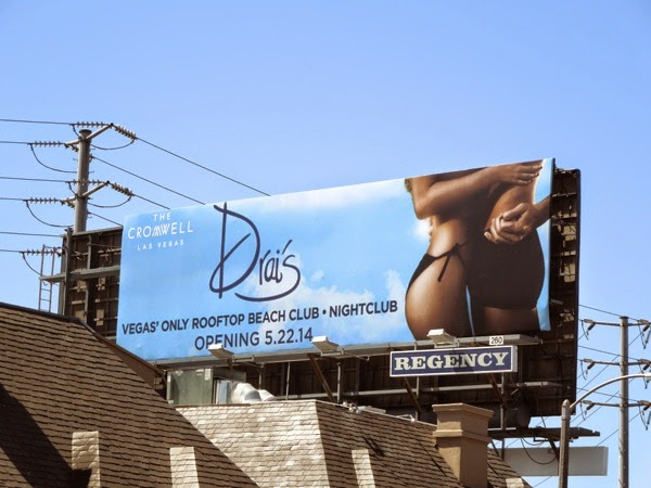 Cromwell Las Vegas Drai's rooftop beach club billboard