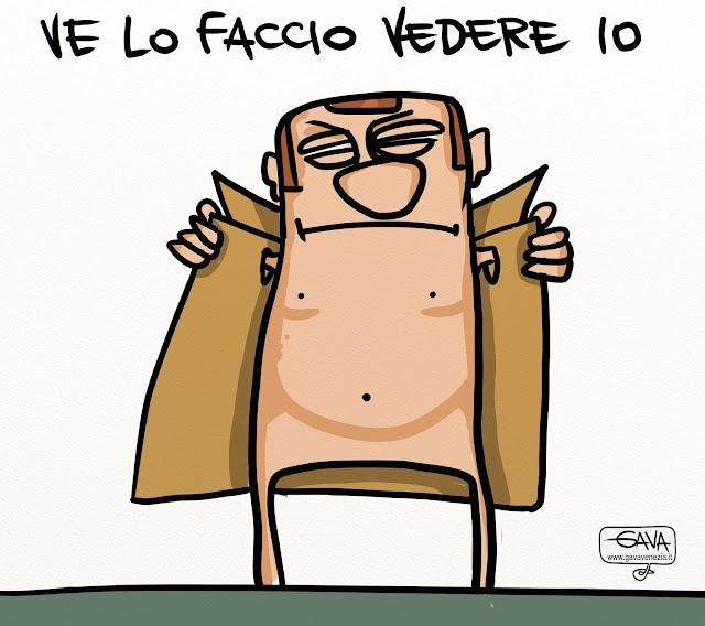 Satira Berlusconi impermeabile Gava Vignette