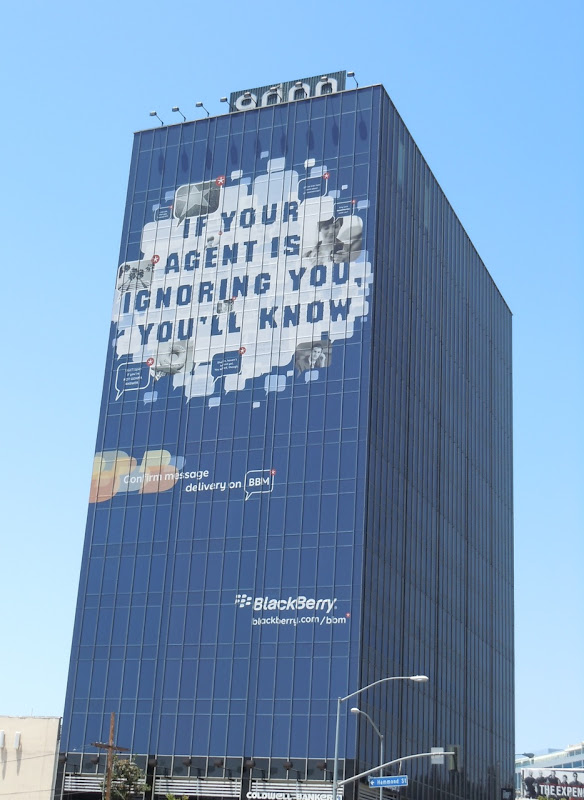 Giant Blackberry billboard