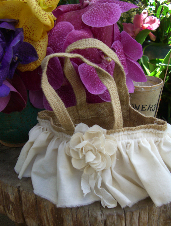 How To Make A Lace Flower Girl Basket : Events by tammy burlap and lace wedding