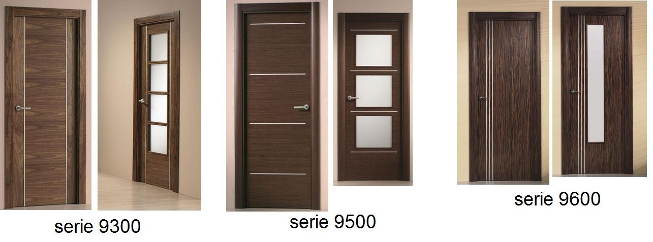 Made of wood puertas modernas con inserciones de aluminio for Puertas en madera para interiores