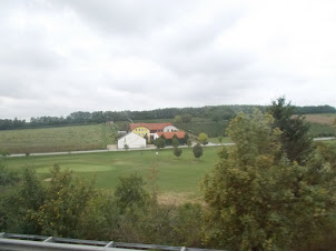 Austrian Countryside while Travelling by bus from  Austria to Prague..