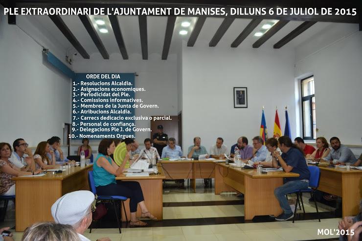 06.07.15 PLENO EXTRAORDINARIO DEL AYUNTAMIENTO DE MANISES