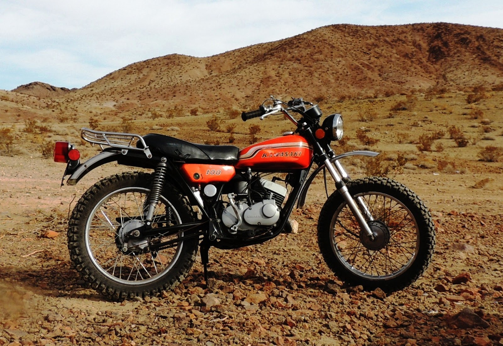 Restoring A 1972 Kawasaki G4 Tr B Motorcycle Desert Riding G4tr Wiring Diagram I Took It Easy For The Most Part Last Thing Wanted To Do Was Fall Over And Hurt Myself Or Mess Up Bike Have Been Working On Months