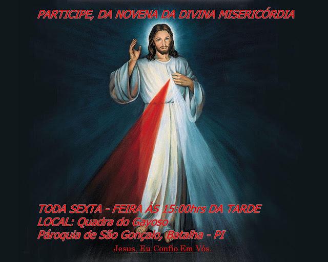Venha Celebrar Conosco à Novena da Divina Misericórdia