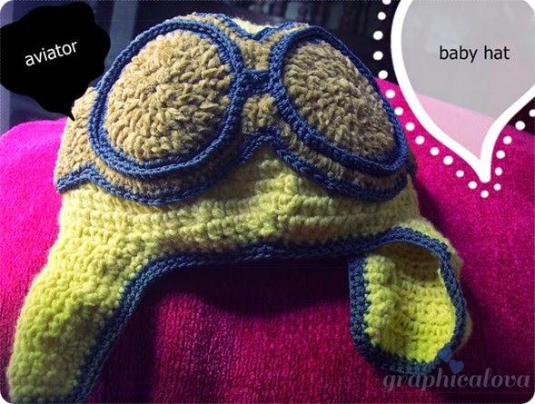 Crochet Topi Bayi Aviator
