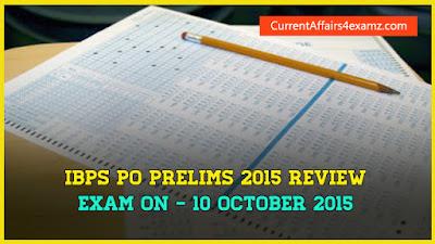 IBPS PO Prelims 10 October 2015