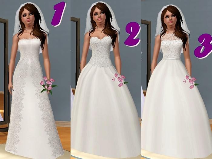 Vestidos de boda para los sims 4