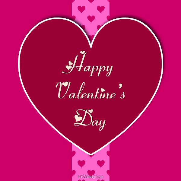 New York Web Design Studio New York NY Happy Valentines Day – Big Valentine Card