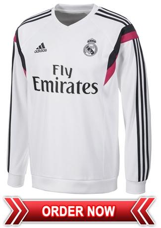 Sweater Training GO Real Madrid Putih 2014 - 2015