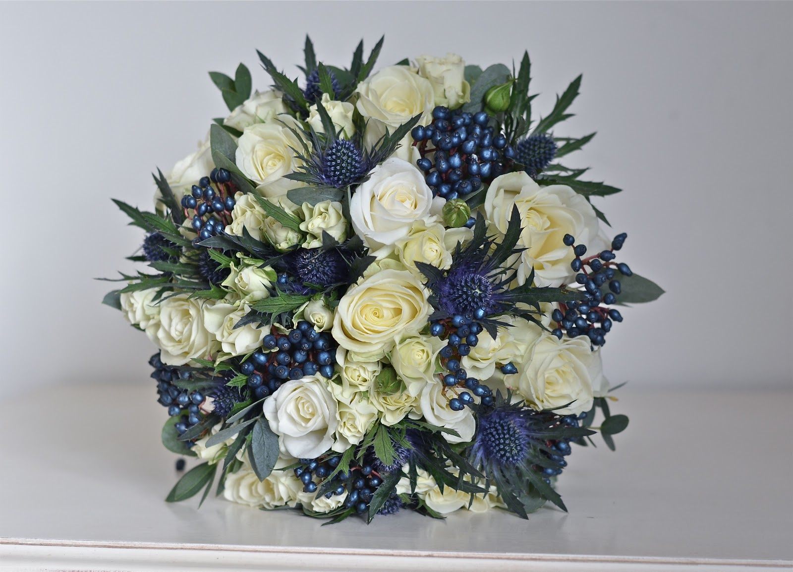 Navy Blue And White Wedding Bouquets : The navy white and silver wedding on