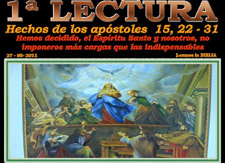 Resultado de imagen para EN aquellos días, los apóstoles y los presbíteros con toda la Iglesia