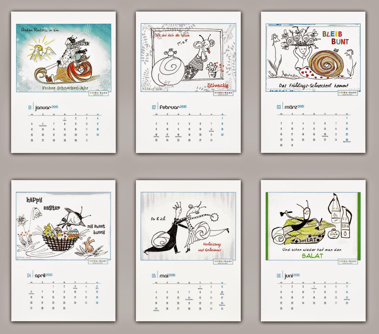 Kalender, Postkarten und mehr